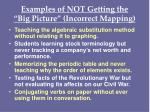 examples of not getting the big picture incorrect mapping