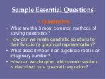 sample essential questions27