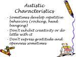 autistic characteristics4
