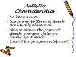 autistic characteristics5