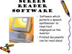 screen reader software
