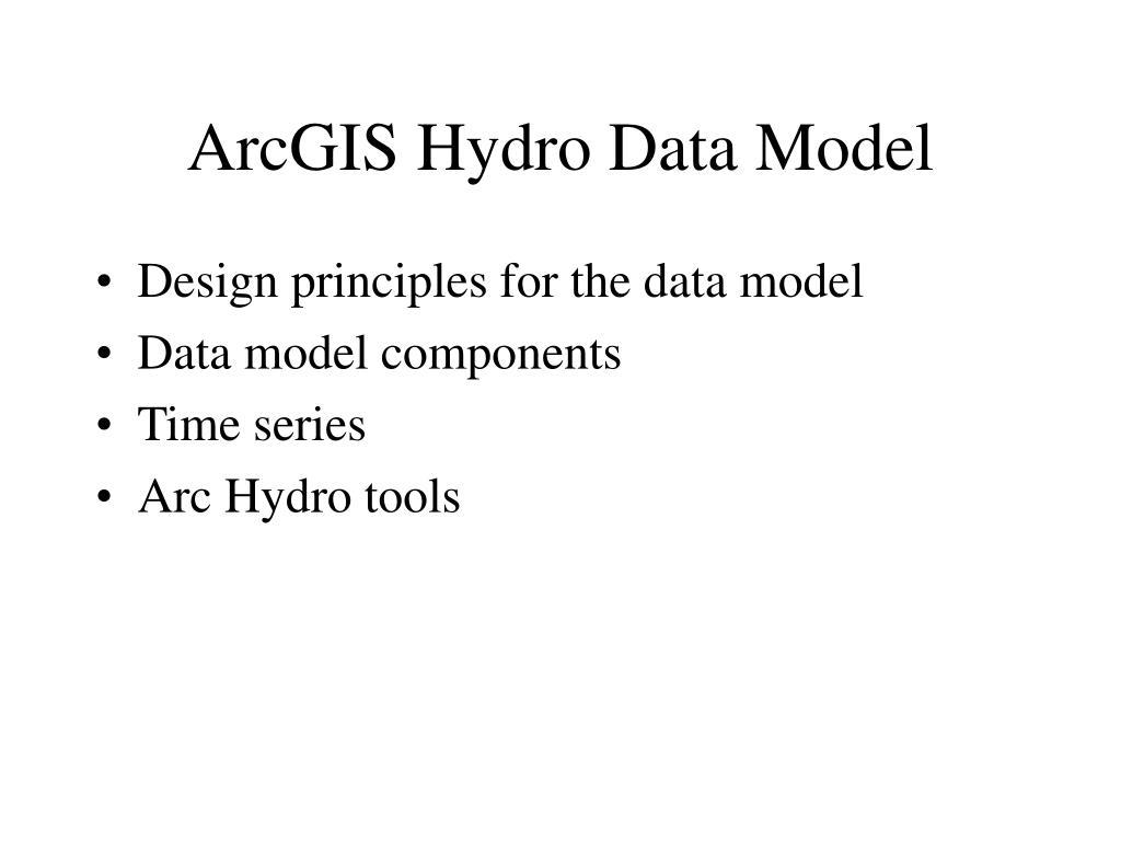 arcgis hydro data model l.