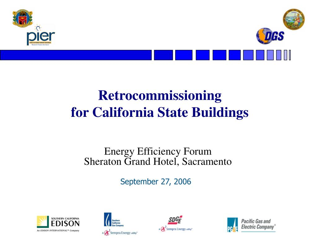 retrocommissioning for california state buildings l.