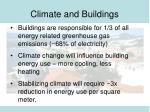 climate and buildings