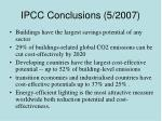 ipcc conclusions 5 2007