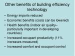other benefits of building efficiency technology