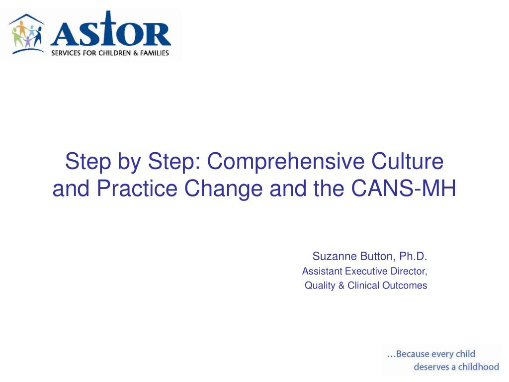 step by step comprehensive culture and practice change and the cans mh l.