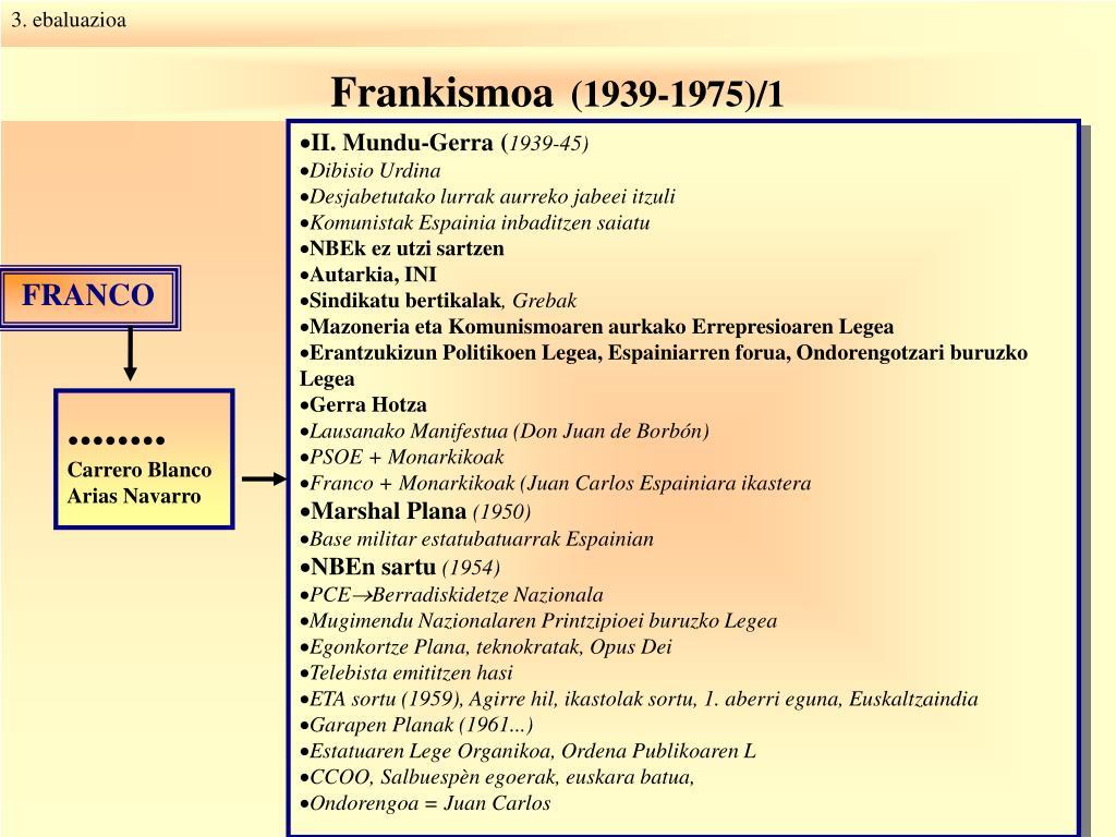frankismoa 1939 1975 1 l.
