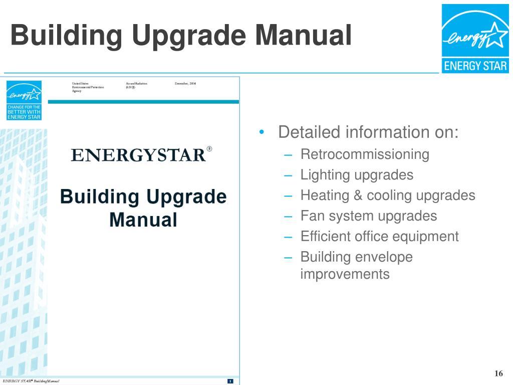 Building Upgrade Manual