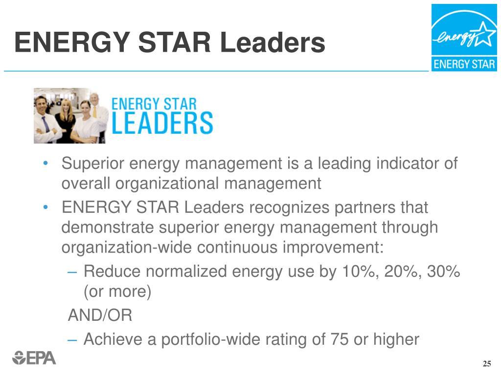 ENERGY STAR Leaders