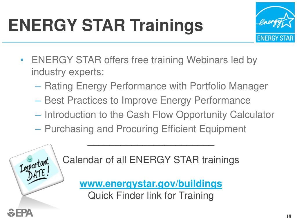 ENERGY STAR Trainings