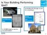 is your building performing well