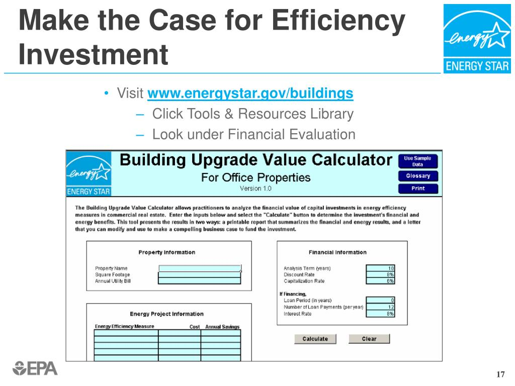 Make the Case for Efficiency Investment