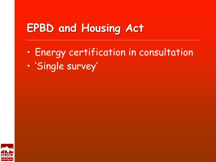 EPBD and Housing Act