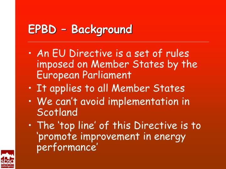 Epbd background