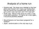 analysis of a home run