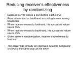 reducing receiver s effectiveness by randomizing