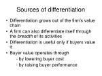 sources of differentiation