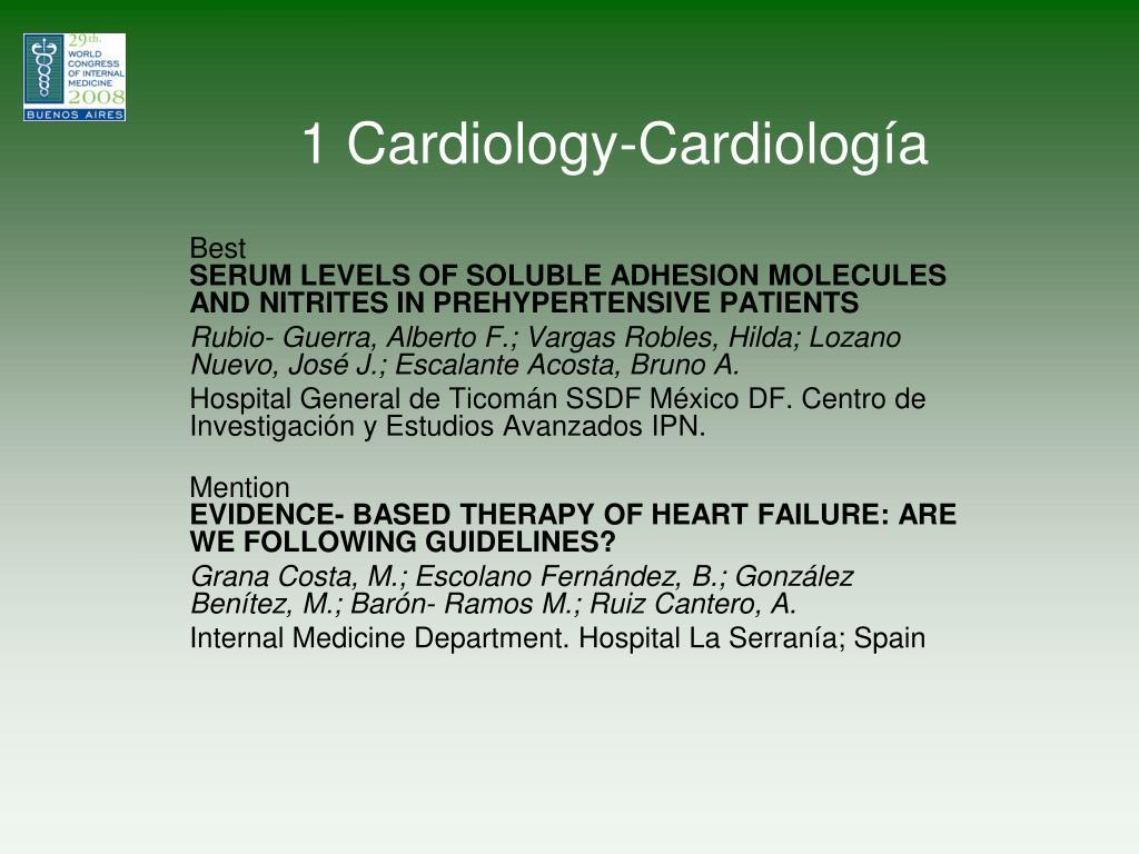 1 cardiology cardiolog a l.
