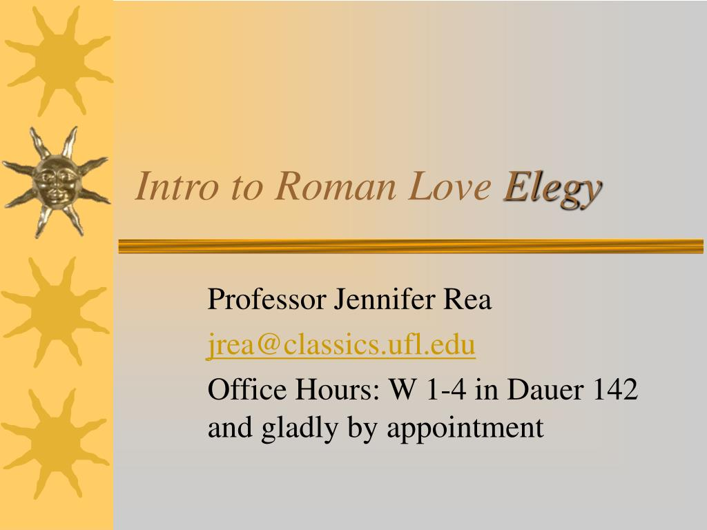 intro to roman love elegy l.