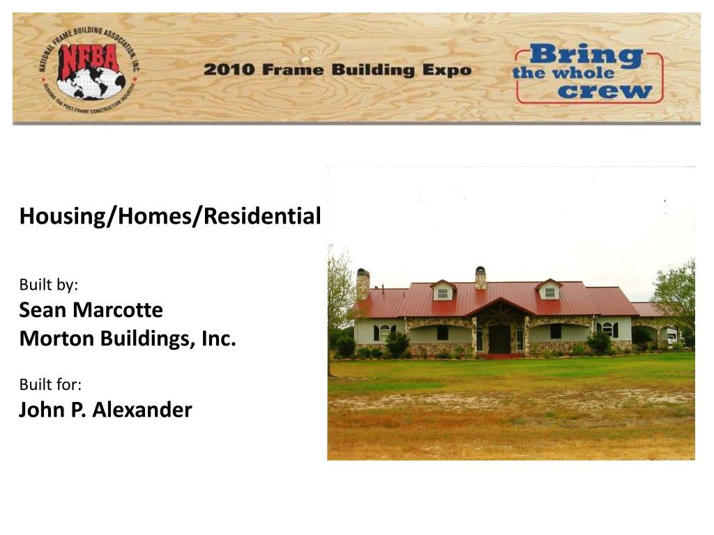 Housing/Homes/Residential