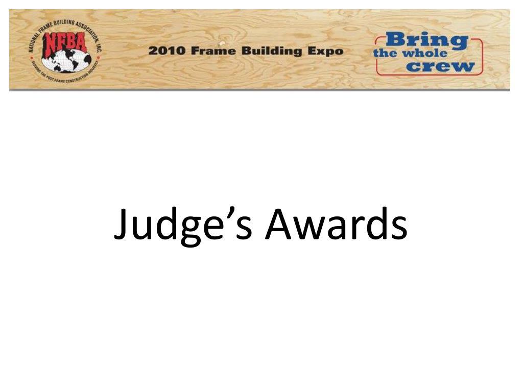Judge's Awards