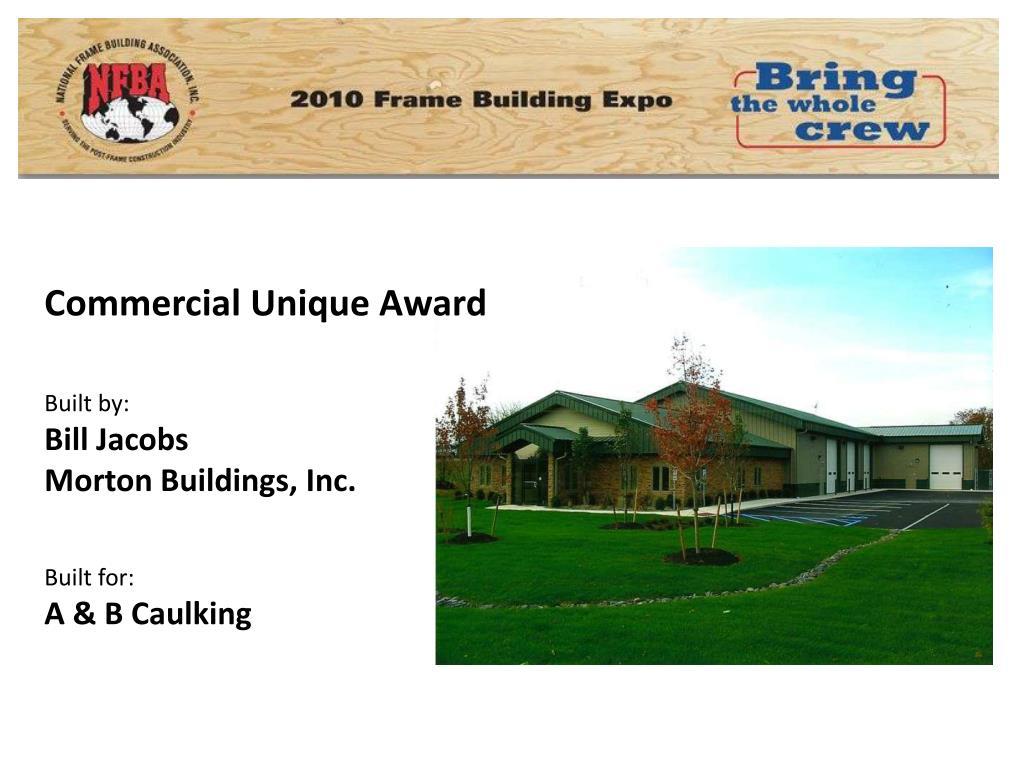 Commercial Unique Award