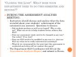 closing the loop what does your department need to do this semester and beyond10