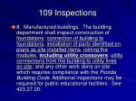 109 inspections