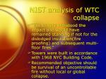 nist analysis of wtc collapse