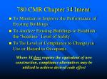780 cmr chapter 34 intent