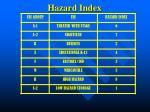 hazard index28