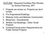 outline required facilities plan review by school planning dpi