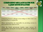 comparing millage rates for la ms municipalities