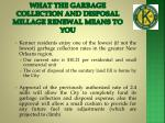 what the garbage collection and disposal millage renewal means to you23