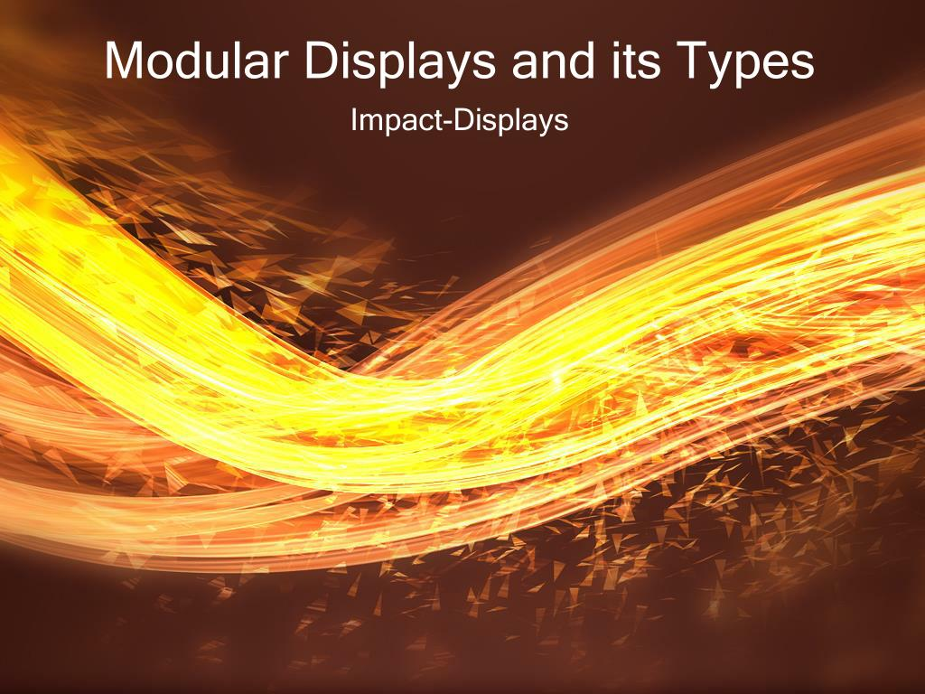 modular displays and its types l.