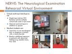 nerve the neurological examination rehearsal virtual environment