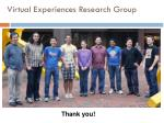 virtual experiences research group