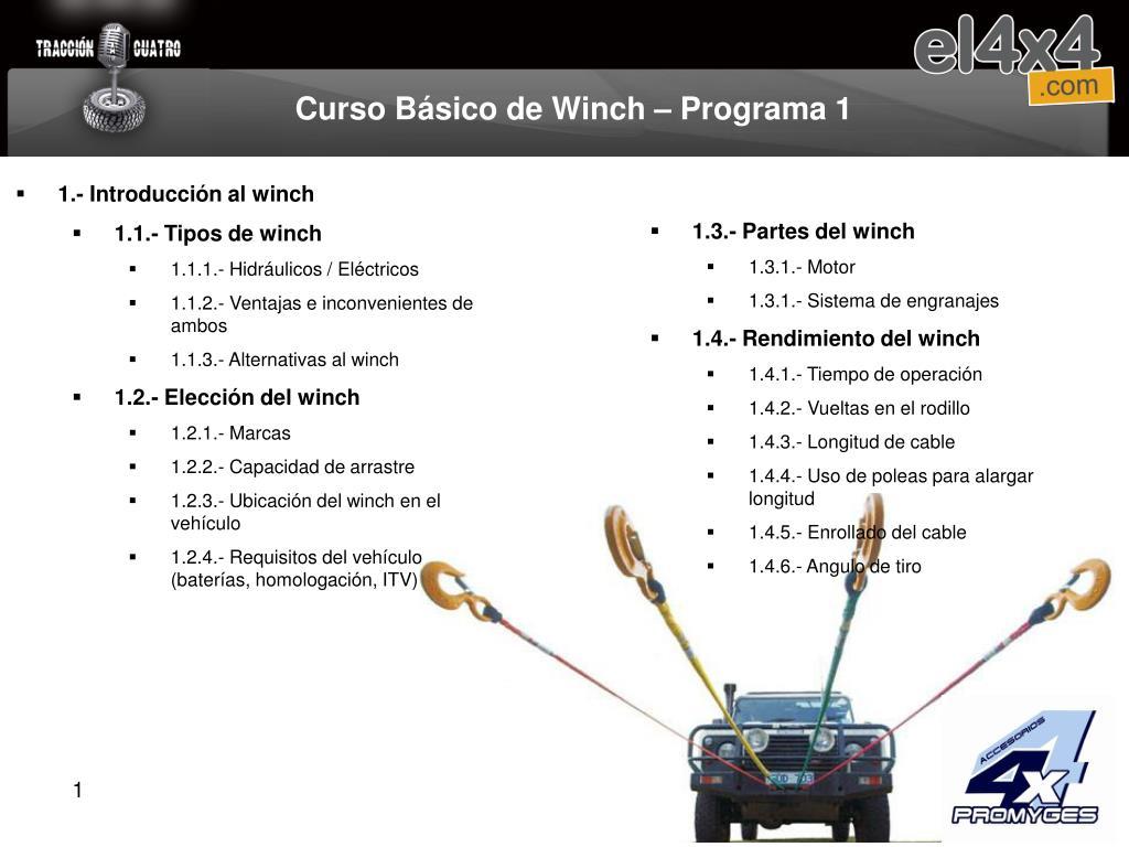 curso b sico de winch programa 1 l.
