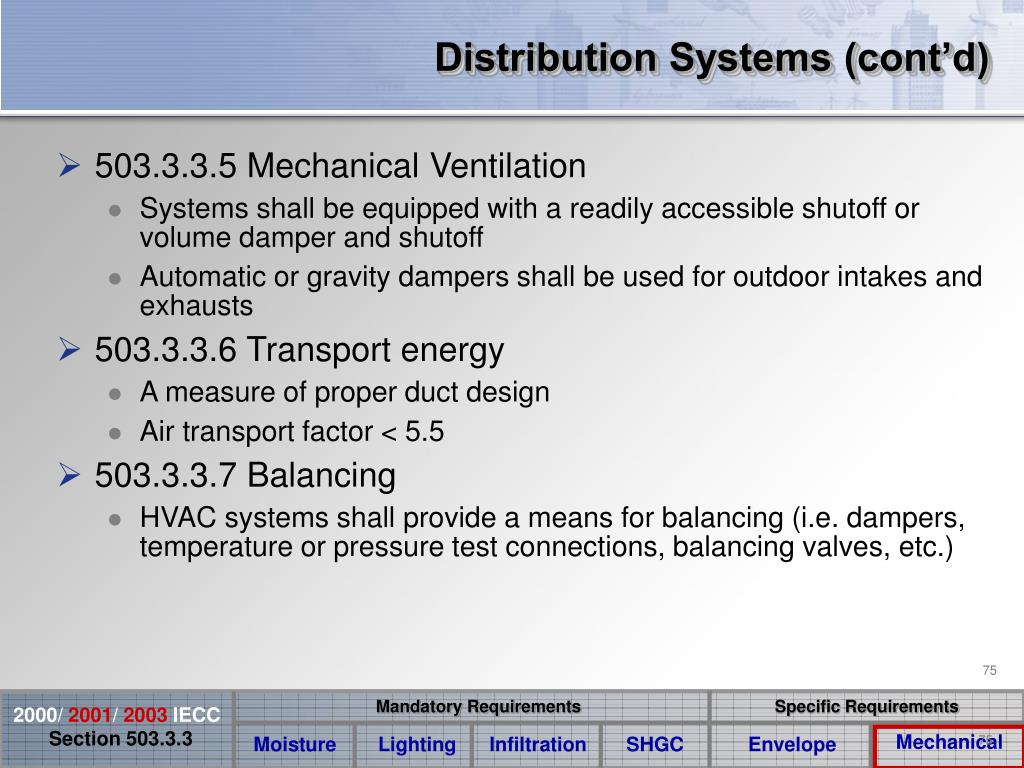 Distribution Systems (cont'd)