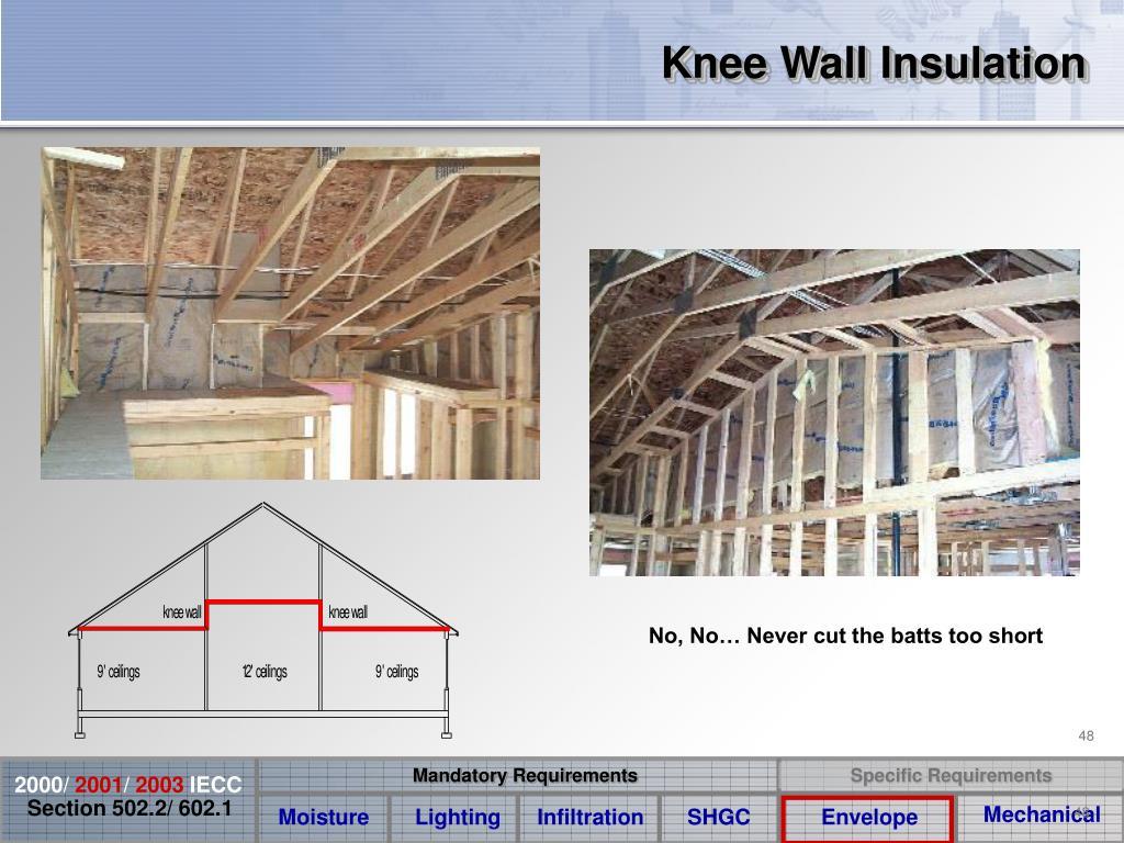 Knee Wall Insulation