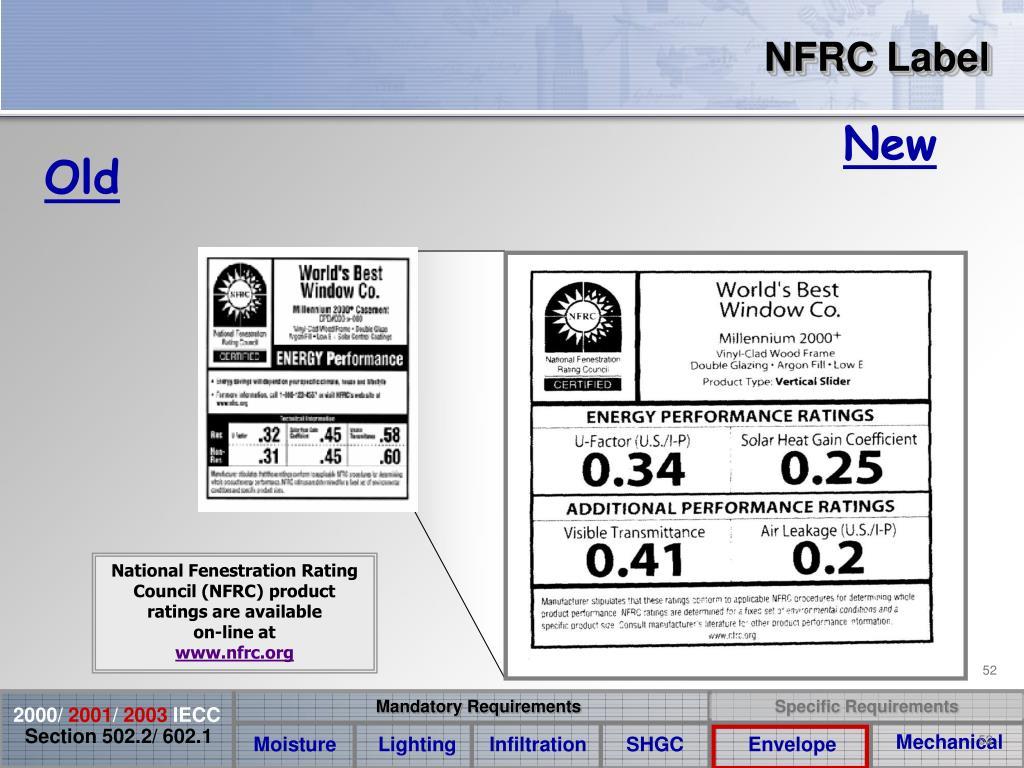NFRC Label