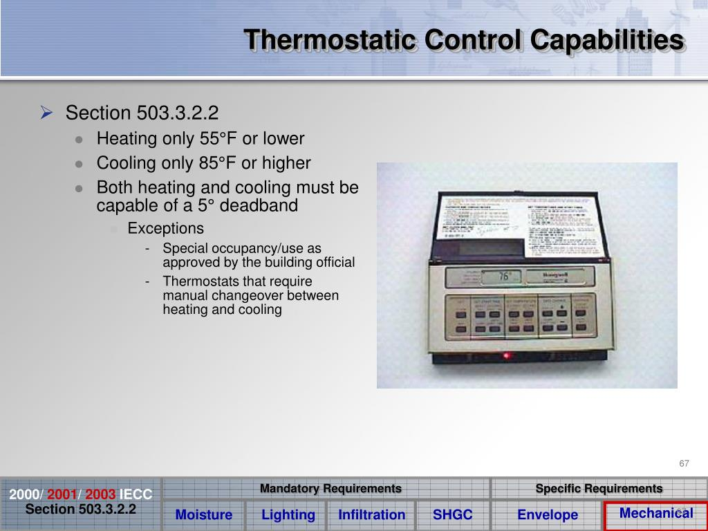 Thermostatic Control Capabilities
