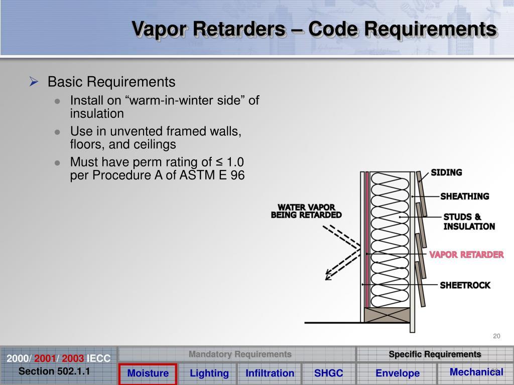 Vapor Retarders – Code Requirements