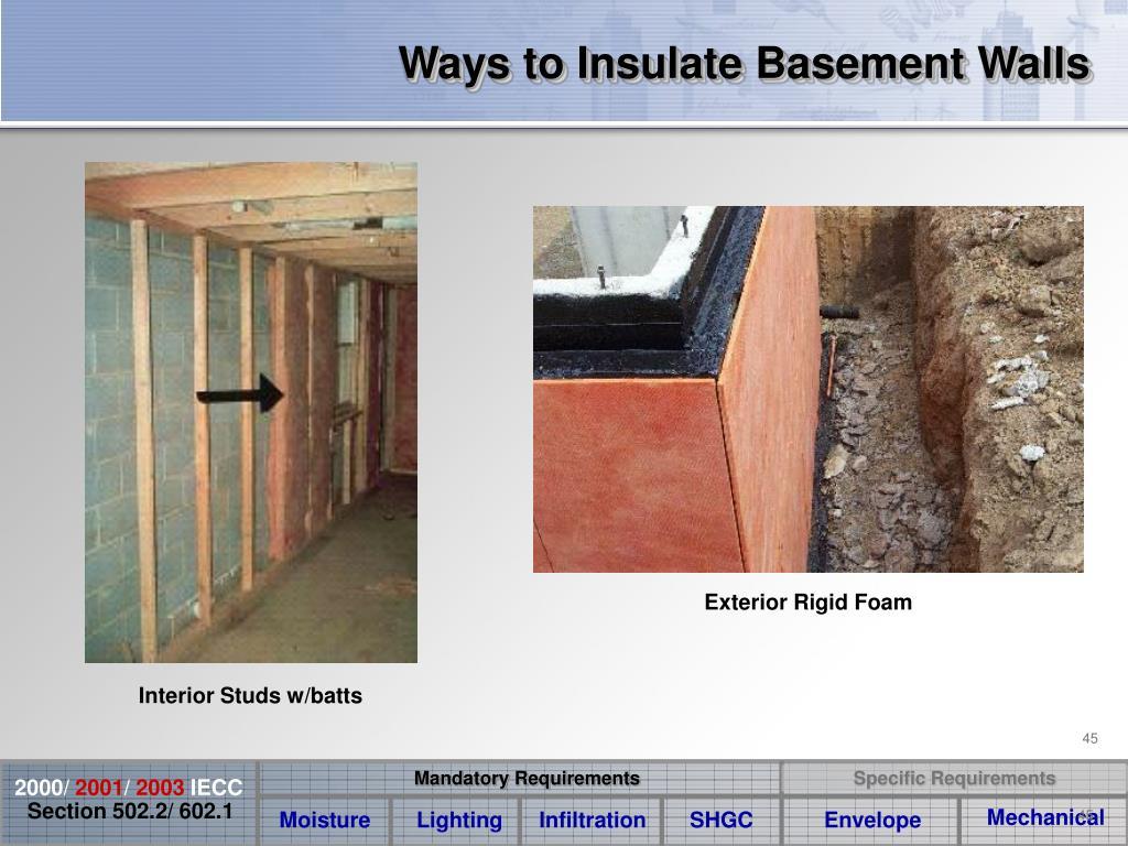 Ways to Insulate Basement Walls