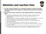 attention and reaction time