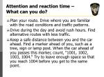 attention and reaction time what can you do