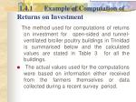 1 4 1 example of computation of returns on investment