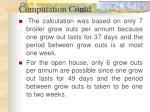computation contd