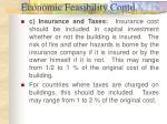 economic feasibility contd